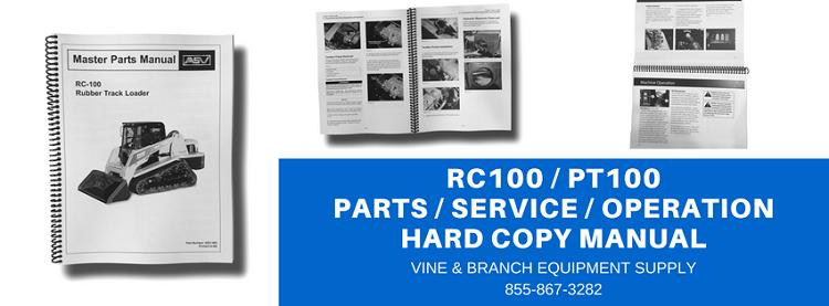 asv rc 100 rubber track loader master service repair workshop manual download